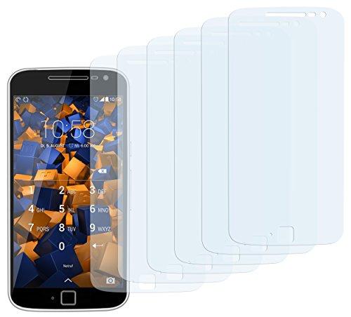 mumbi Schutzfolie kompatibel mit Lenovo Moto G4 Plus Folie klar, Bildschirmschutzfolie (6x)