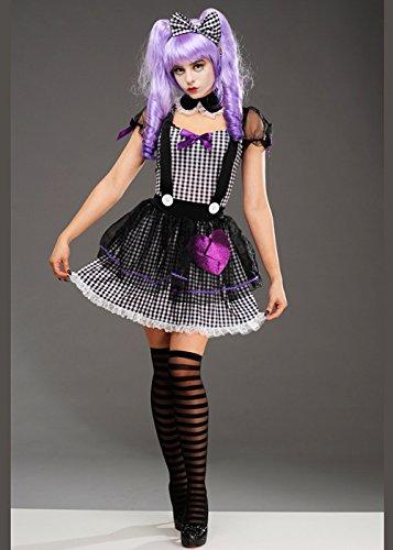 Magic Box Int. Damen Halloween Gothic Dead Eye Dolly Kostüm M (UK 10-12) -