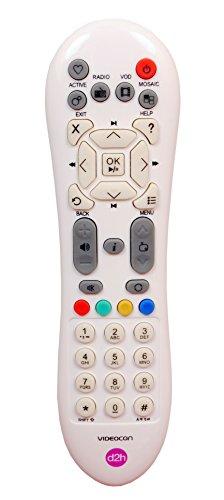 Videocon d2h Plastic Remote for Standard Set-Top Box(white)