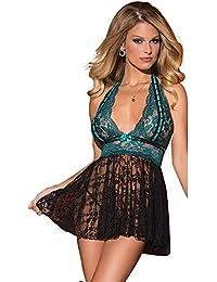 EVBEA Lencería Mujer Erótica Pijamas Babydoll Sexy Camisones Encaje con Cordón Ropa Interior Femenina Hot Lencería