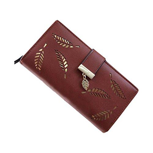 kingkor-women-leaf-bifold-wallet-leather-clutch-id-window-coin-card-holder-purse-lady-long-handbag-b