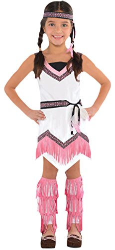 chen Indianerin Kostüm, Karneval, Fasching, Halloween, Mehrfarbig, Größe 104-116, 4-6 Jahre (Maya-halloween-kostüm)