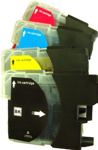 10 cartucce d'inchiostro compatibili, sostituiscono Brother LC 980/ LC 1100 BK, LC 980/LC1100 C, LC