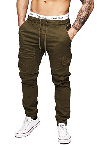 INDICODE Uomo Pantaloni Cargo Montagna Epoca Cargo Uomini Pantaloni Men Army Ranger 5851 Chino Pants Trousers Verde M - Ranger Verde