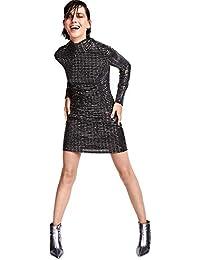 8314db7c9532 Debenhams Star by Julien Macdonald Womens Black Sequinned High Neck Mini  Dress