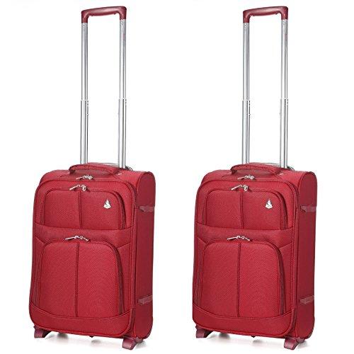 Aerolite Leichtgewicht 2 Rollen Handgepäck Trolley Koffer Bordgepäck Kabinentrolley Reisekoffer Gepäck , Genehmigt für Ryanair easyJet Lufthansa und Mehr, 2...
