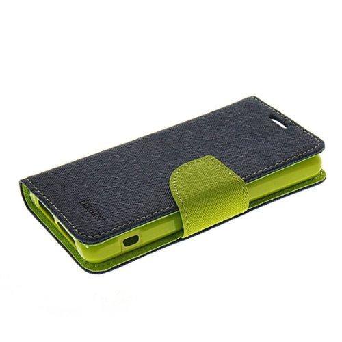 Xperia z1 compact Hülle,Sony xpeira z1 compact Case,COOLKE Mode Zwei Farben magnetische Leder Tasche Flip Case Cover Schutzhülle Hülle Schale Für Sony Xperia Z1 Compact /z1 mini/D5503-Sapphire