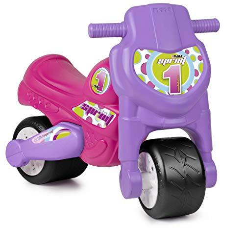 FEBER MotoFEBER Racing - Trotteur avec casque, pour enfants de 18 mois à 3 ans, Violet (Famosa 800008171)