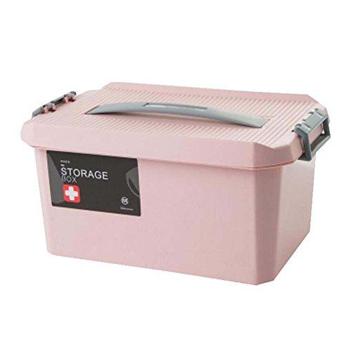 Black Temptation Lovely Stylish Double Aufbewahrungsbox Medizin Box Familie Notfall-Kit, Pink