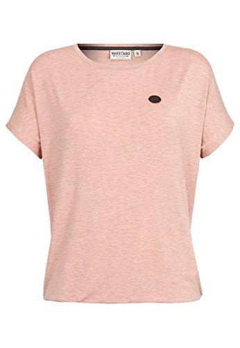 Naketano Female Shortsleeve Die Gedudelte Pastel Pink Melange, XL (Damen-pink T-shirt Reinigen)
