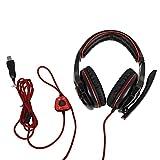 Gaming Headset, 7.1-Kanal-Stereo-USB-Kopfhörer-Kopfband mit Mikrofon-Lautstärkeregler für...