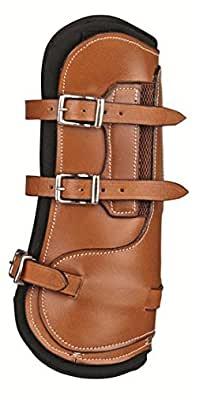 HKM bottes de protection en cuir pour Pattes avant -Roma- Cob/cheval Noir