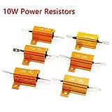 10-50W 0.1-470 Ohm Plaque or aluminium resistor resistance puissance bobinée plaqué resistors, pour l'alimentation, inverseurs, ascenseurs (10W 2.2 Ohm)
