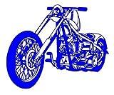 Motorrad Chopper 2 Rad Biker 15cm Aufkleber ohne Hintergrund von SUPERSTICKI® aus Hochleistungsfolie für alle glatten Flächen UV und Waschanlagenfest Tuning Profi Qualität Auto KFZ Scheibe Lack Profi-Qualität