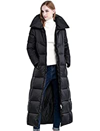 Queenshiny Women's Long to Ankle Editordown Down Coat Jacket Outwear parka down coat black uk size 8--16