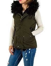 Damen Jacke Übergangsjacken Trend Anorak Fashion Parka Mantel Cardigan  Weste Fellimitat 1b4c84d689