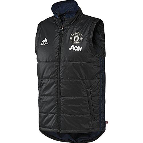 adidas MUFC PAD VEST - Weste -    Manchester United FC - Herren, Schwarz / Blau / Weiß, M