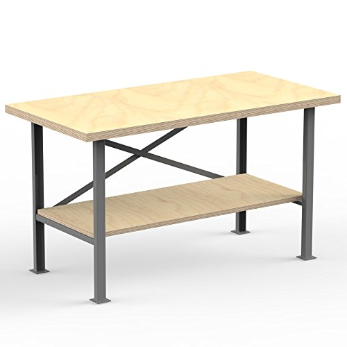 auprotec-workbench-pro-1500-x-600-x-850-mm-plywood-worktop-40mm-solid-2-tier-work-table-multiplex-pl