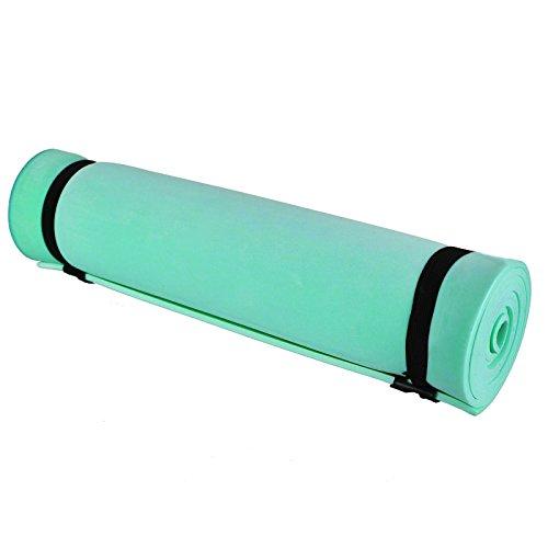 ASAB Isolierter Schaum Rolle bis Isomatte für Camping, Wandern, Reisen, Yoga, Pilates, Fitnessstudio, Training, Fitness Workout, Beach | Innen und Außenbereich, grün, Einheitsgröße
