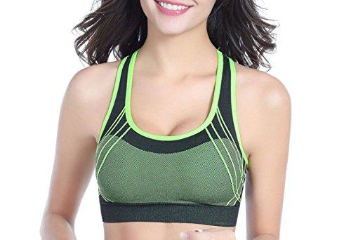 WKAIJCC Donna Sport Reggiseno Biancheria Intima Yoga Idoneità Nessuna Traccia Raccogliere Gilet Comodo Casual C