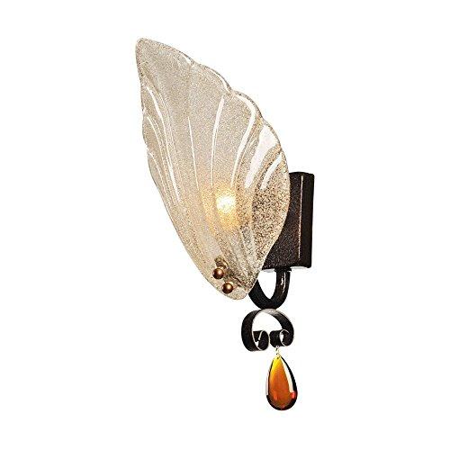 Moderne Eisen Wandleuchte, europäischen Dorf LED Glas Wand hängende Lampe einfach kreative Esszimmer Schlafzimmer Flur Wandleuchte Antik Wohnzimmer Studie Bettseite Wandleuchte -