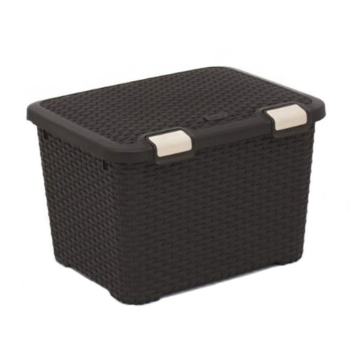 CURVER Behälter STYLE 43L Style Box 43L Behälter, Polypropylen, Dunkelbraun, 50x40x33