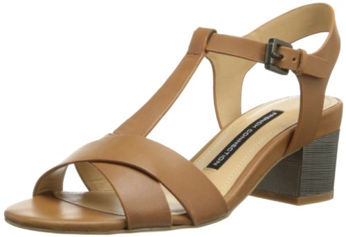 French Connection Lia Femmes Cuir Sandales Tan