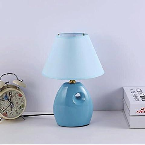 BMKY lampe de table Lampe de table Lampe de chevet Chambre innovante Lampe en céramique Simple moderne Warm Light A Table Lamp Petit lampe de table ( Couleur : 2 )