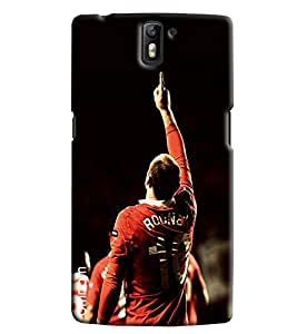 Omnam Wayne Rooney Printed Printed Designer Back Cover Case For One Plus One