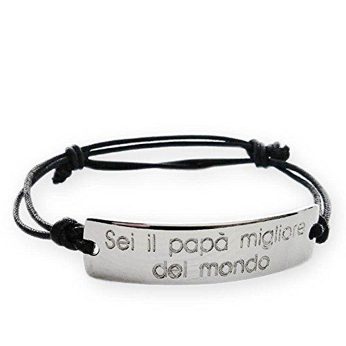 Bracciale argento 952 sei il papa' migliore del mondo. regalo per la festa del papà, idea regalo neopapà