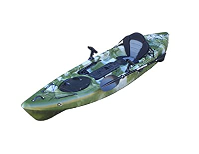 Bluefin Kingfisher Sit On Top Fishing Kayak | With Rod Holders, Storage Hatches, Padded Seat & Paddle by Bluefin Kayaks