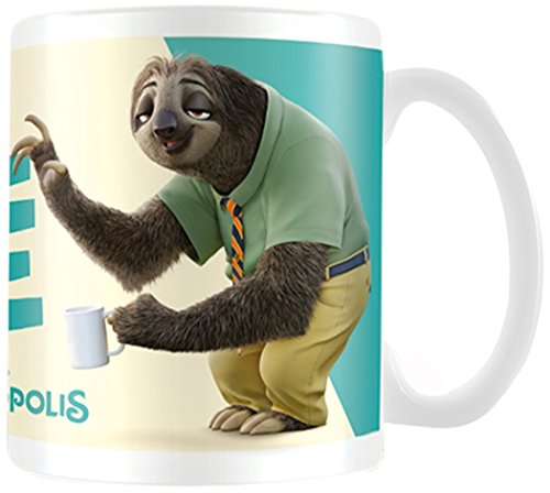 "Pyramid International ""Zootropolis (Chill Dude)"" Official Boxed Ceramic Coffee/Tea Mug, Multi-Colour, 11 oz/315 ml"