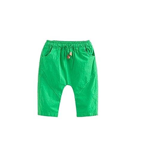 Gaddrt Baby Girls & Boys Calf-length Linen Pants Candy Color Pants Beach Pants Sport Active Pants (110,