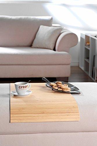 Couchablage aus massivem Bambus, pure ca 20x40 cm Flexablage Lehnenschoner Hockerablage Tablett Couch Sofa Butler Armlehne Ablage Hocker Longchair Made in Germany (Sofa-butler)