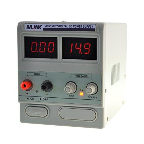 MLINK APS1502+ 15V, 2A Fuente Alimentacion regulable con display digital