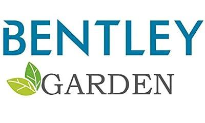 Bentley Garden Bistro-Sitzgarnitur - Aluminiumguss - Schwarz mit roten Polstern