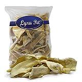 Lyra Pet® 5 kg Rinderkopfhaut Hellbraun Hundefutter Kausnack wie Ochsenziemer