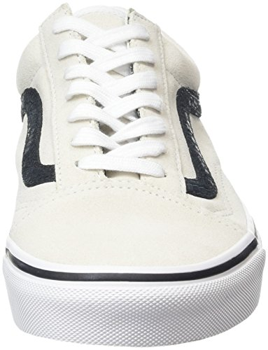 Vans Old Skool, Baskets Basses Mixte Adulte Blanc Cassé (Reptile white/black)