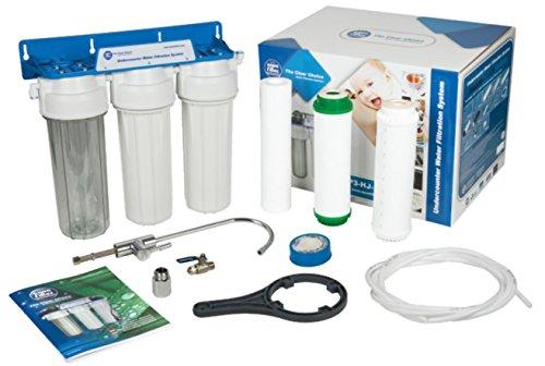 Mehrstufiges Wasser ganzes Filtersystem under-counter mit Wasserhahn + 3x Filter -