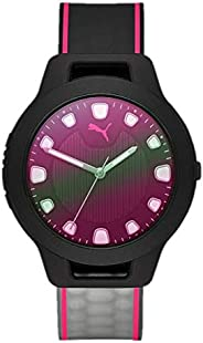 Puma Reset V1 Women's Black Dial PU Leather Analog Watch - P