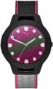 ساعة بوما ريسيت في 1 للنساء مينا اسود جلد صناعي انالوج - P1026