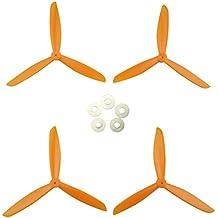 MagiDeal Set de 4 Piezas de Reemplazo de Hélice para Syma X8w X8g X8hc X8hw Quadcopter RC - Naranja