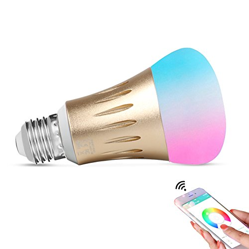 Expower 7W Smart WiFi Blub Light E27 Led Bulbs Works with Amazon Alexa Echo Remote Control by Smartphone IOS and Android 60W Equivalent