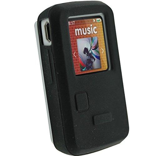 4 Gb Mp3 Sansa Clip (Upper Tech Uk Schwarz Silikon Skin Schutzhülle für SanDisk Sansa Clip Zip 4GB 8GB MP3Player)