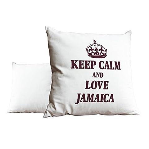 Bordeaux Keep Calm and Love Jamaica Blanc Scatter Taie d'oreiller 1971