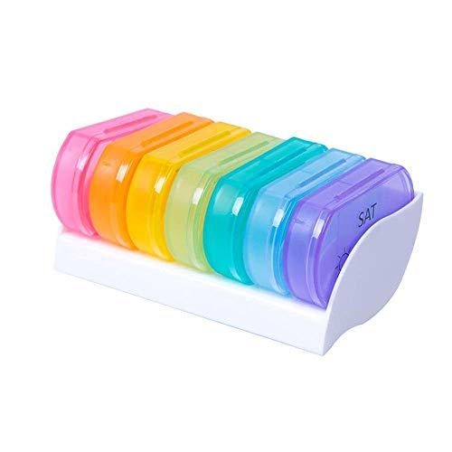 JJPP Tablettenbox aus Kunststoff, tragbar, 7 Stück