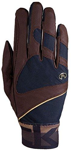 Roeckl Sports Handschuh -Milton, Unisex Reithandschuhe, Bund dehnbar, Mokka Größe 9,5