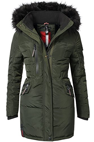 Navahoo Eliya Stepp cappotto invernale da donna verde S