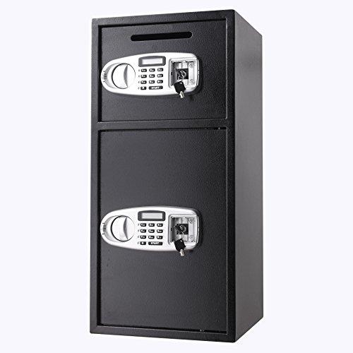 VEVOR Elektronischer Safe Tresor Doppeltüren Sicherheitsschrank 3MM Stahltür Möbeltresor Elektronikschloss Tresore für Geld Schmuck Waffen - 5