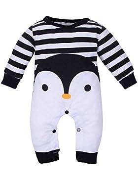 Longra Kleinkind Baby Mädchen Jungen Cartoon Baumwolle Strampler Jumpsuit Kleidung Unisex Baby Langarmshirts Overall...